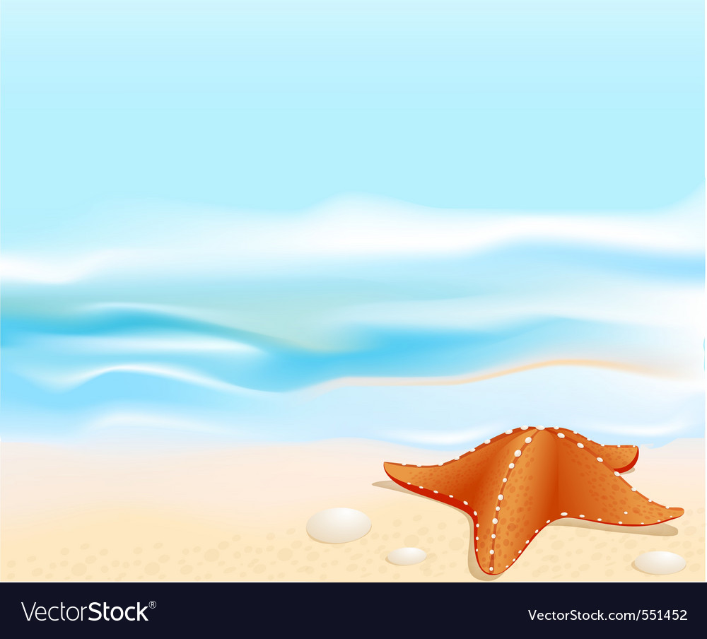 Marine landscape vector | Price: 1 Credit (USD $1)