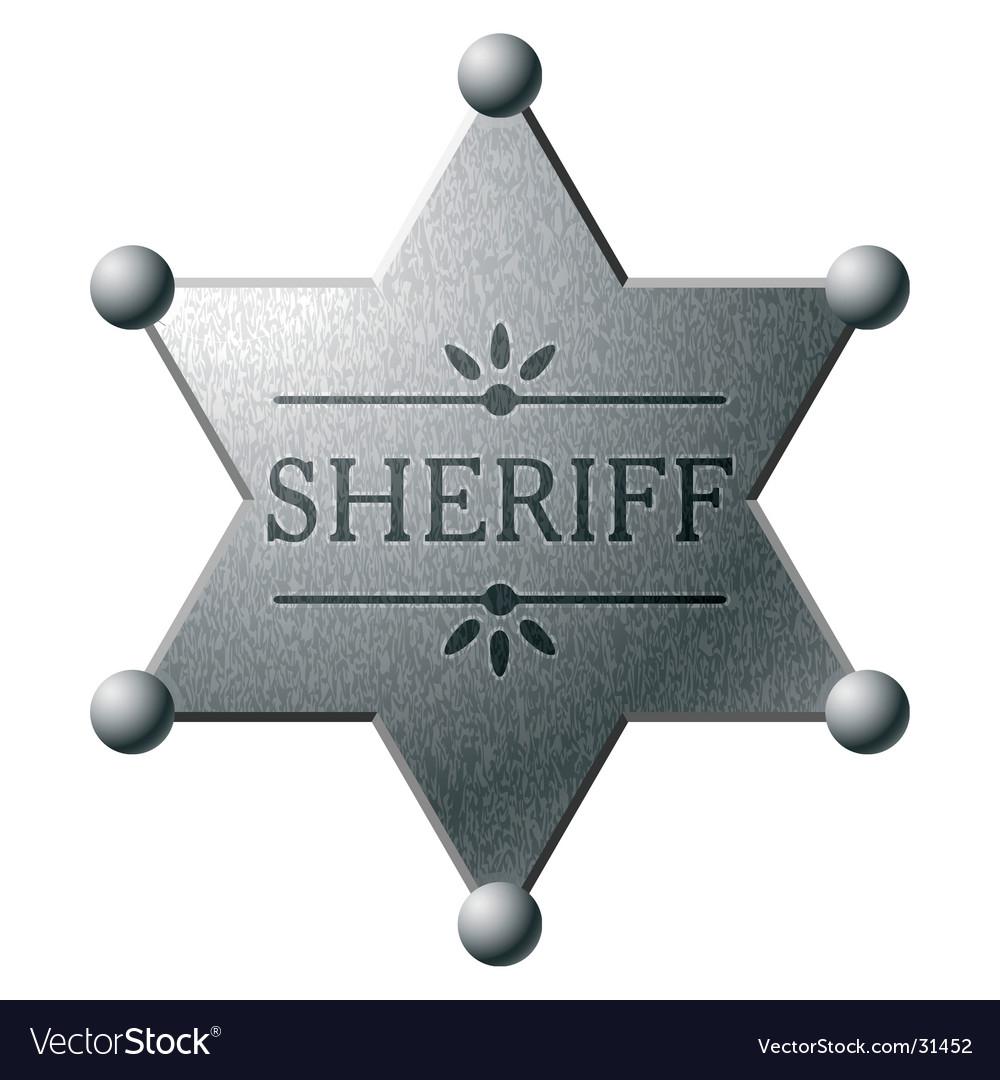 Sheriff's shield vector | Price: 1 Credit (USD $1)