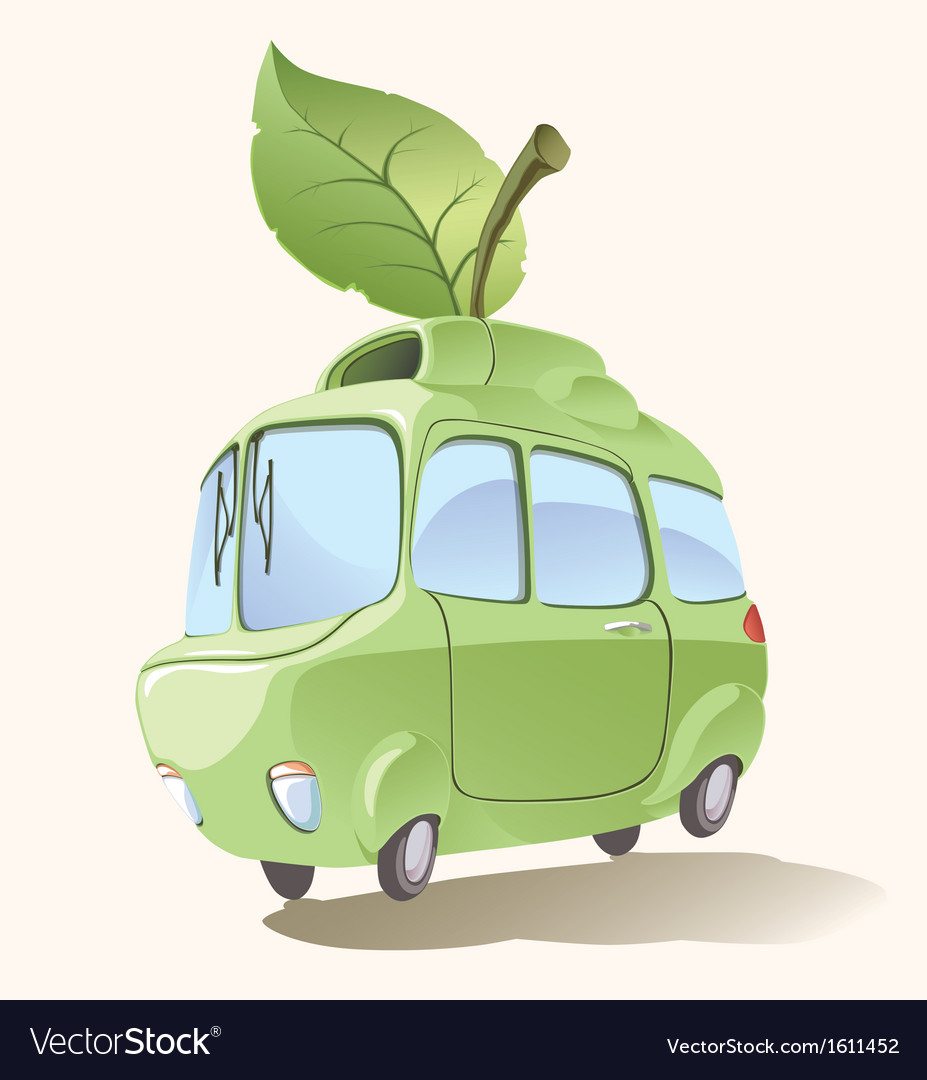 Small eco-friendly car vector | Price: 3 Credit (USD $3)