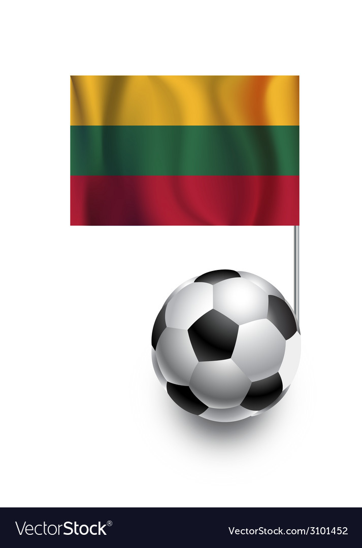 Soccer balls or footballs with flag of lithuania vector | Price: 1 Credit (USD $1)