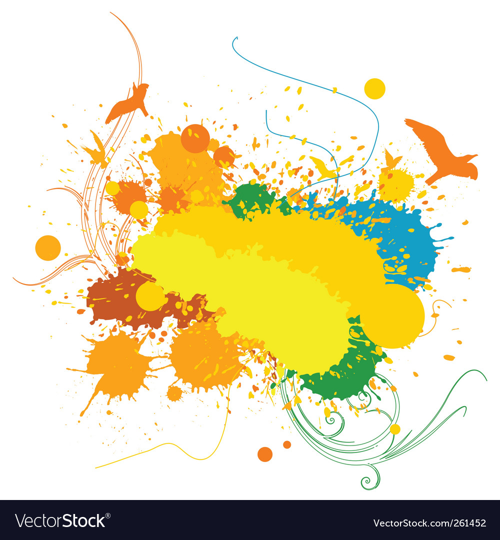 Splashing background vector | Price: 1 Credit (USD $1)