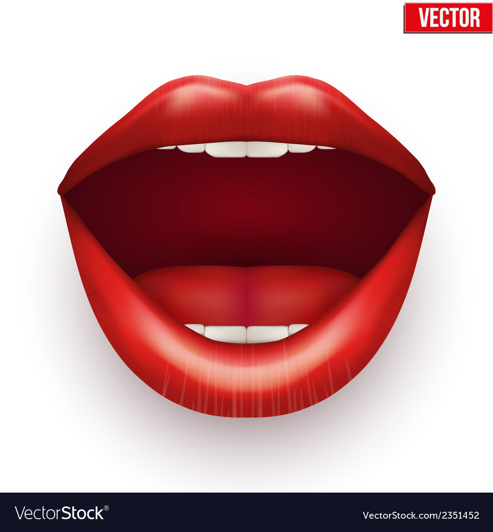 Womans mouth with open lips vector | Price: 1 Credit (USD $1)