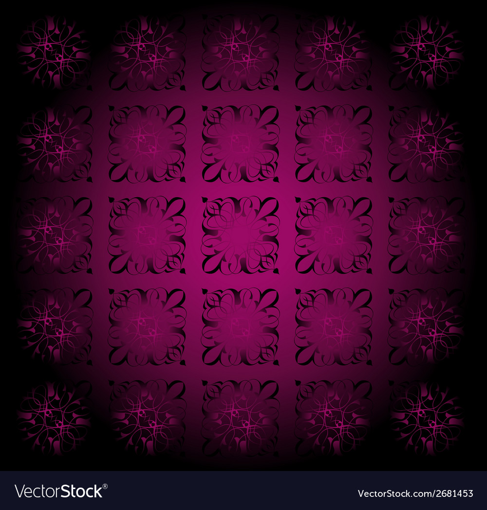 Beautiful circle dark purple floral background vector | Price: 1 Credit (USD $1)