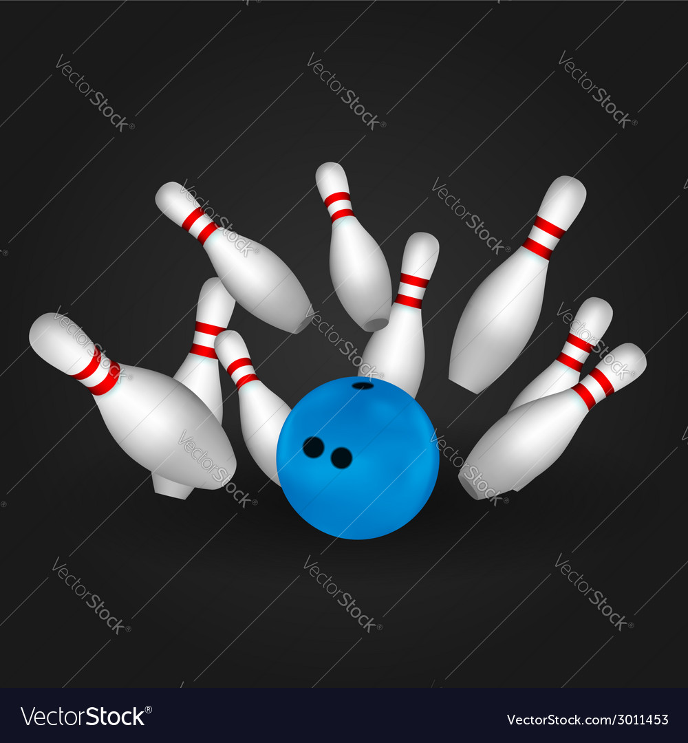 Bowling pins and bowl vector | Price: 1 Credit (USD $1)