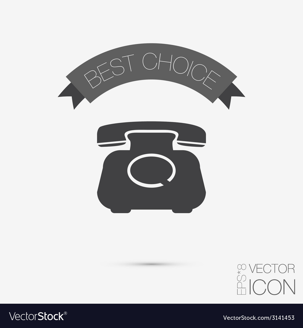 Classic retro phone vector | Price: 1 Credit (USD $1)