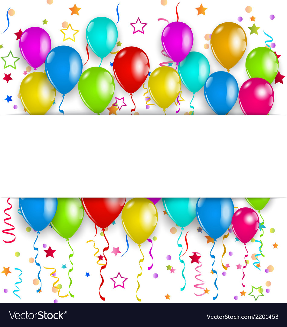 Colourful party balloons confetti with space for vector | Price: 1 Credit (USD $1)