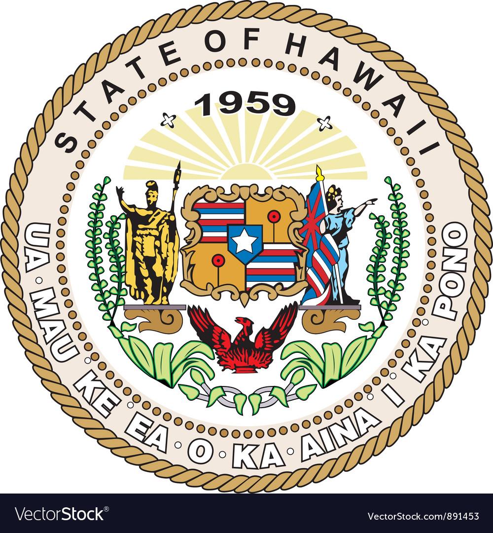 Hawaii seal vector   Price: 1 Credit (USD $1)