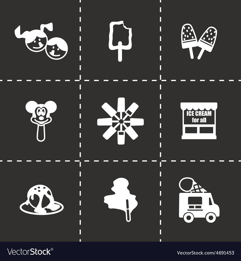 Ice cream icon set vector | Price: 1 Credit (USD $1)
