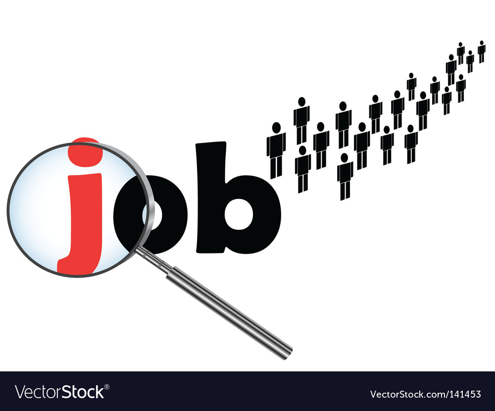Job searching vector | Price: 1 Credit (USD $1)