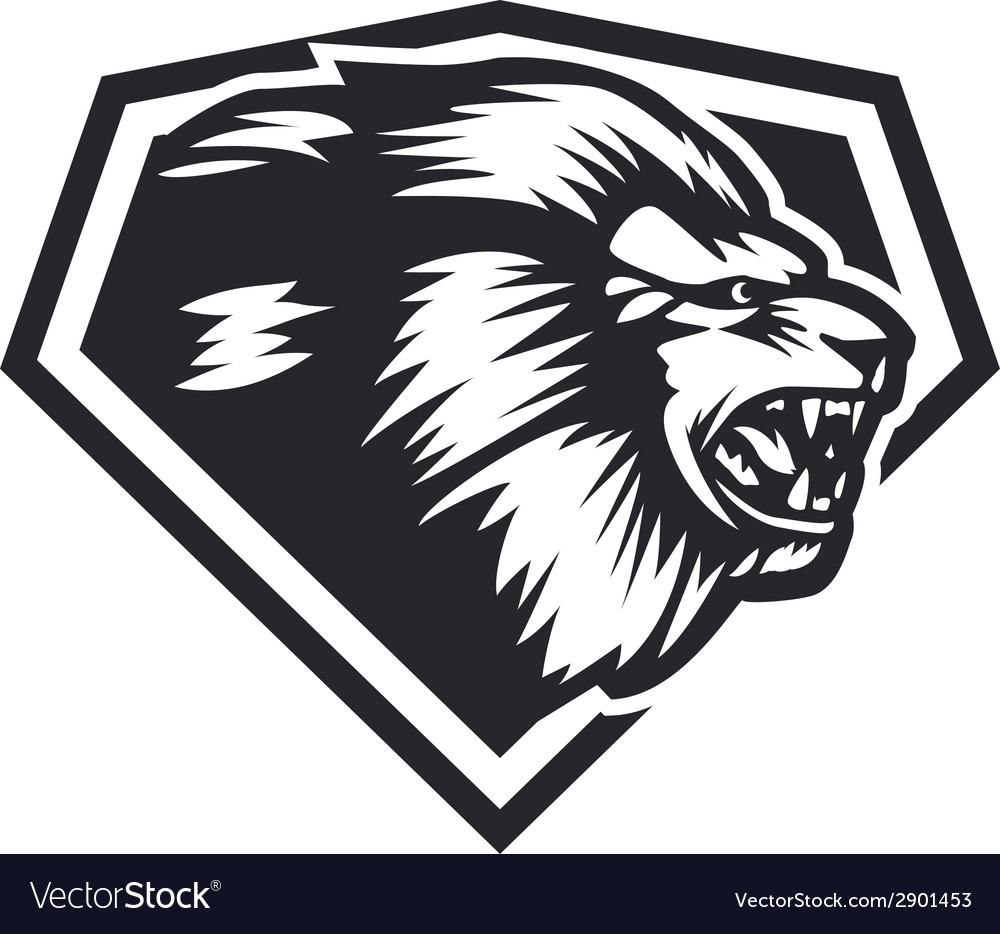Lion head side vector | Price: 1 Credit (USD $1)