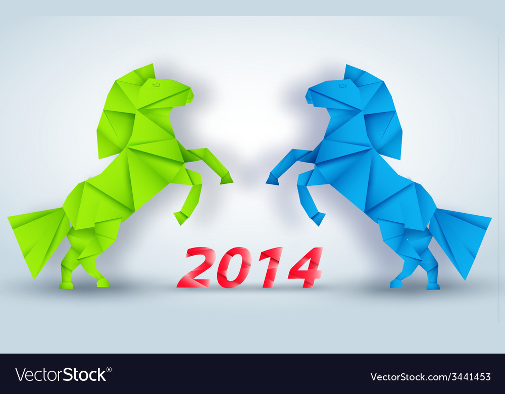 New year horse background concept vector | Price: 1 Credit (USD $1)