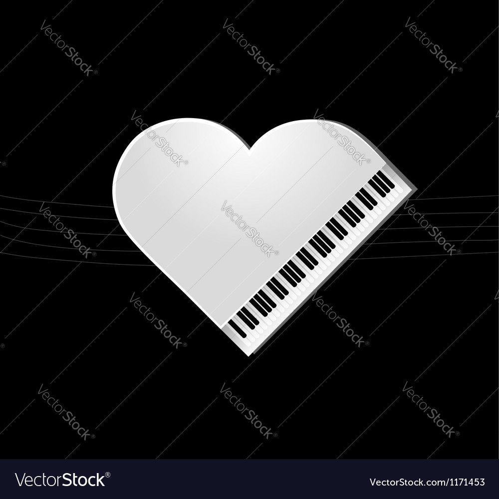 Piano on black background vector | Price: 1 Credit (USD $1)