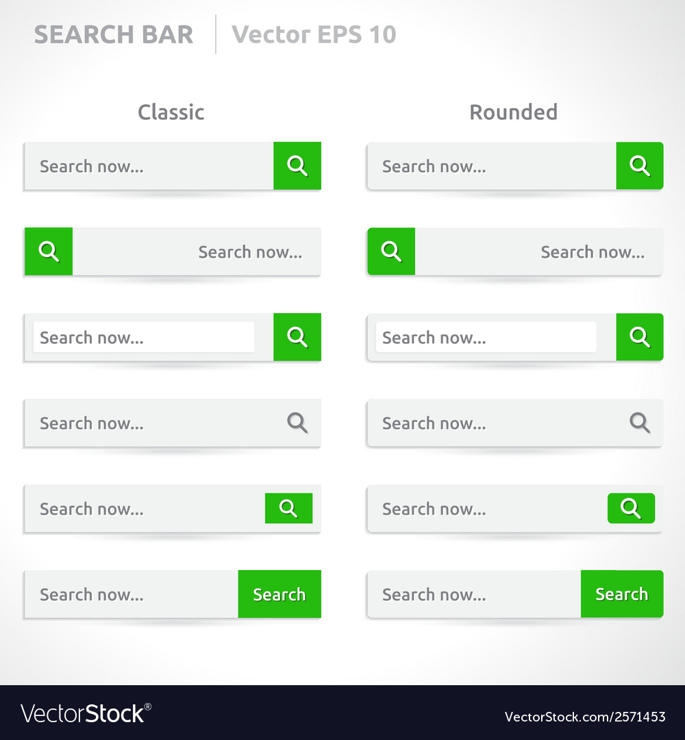 Search bar template vector | Price: 1 Credit (USD $1)