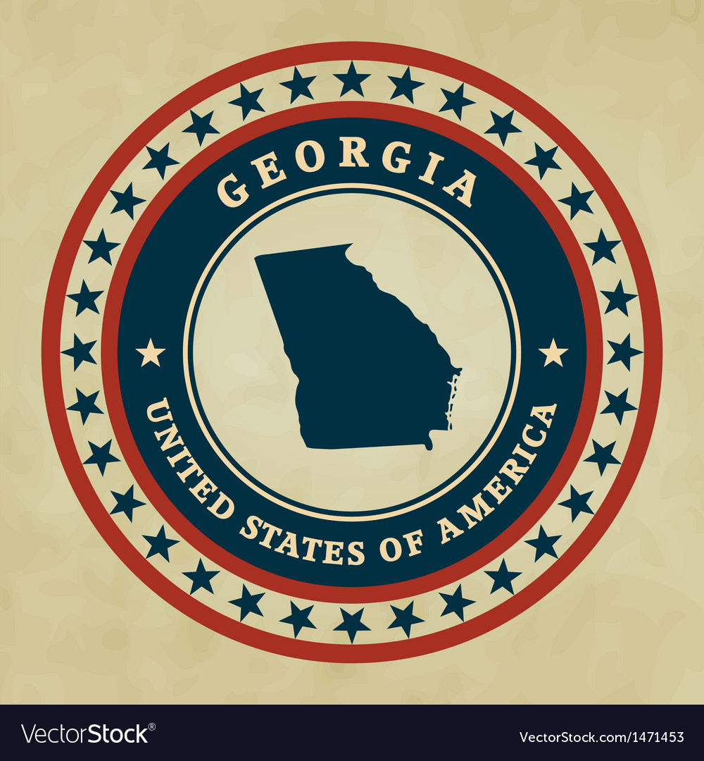 Vintage label georgia vector | Price: 1 Credit (USD $1)