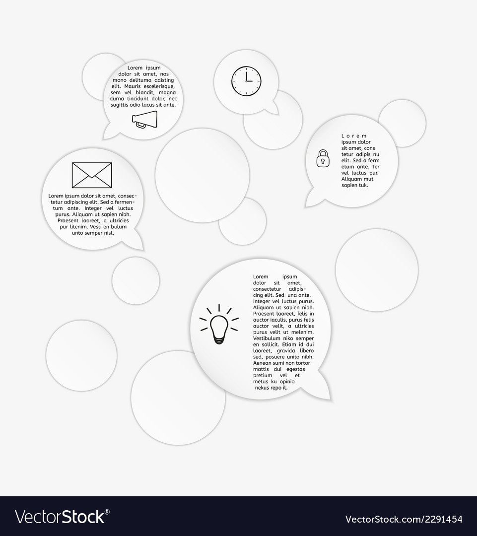 Circles and speak bubbles infographic template vector | Price: 1 Credit (USD $1)