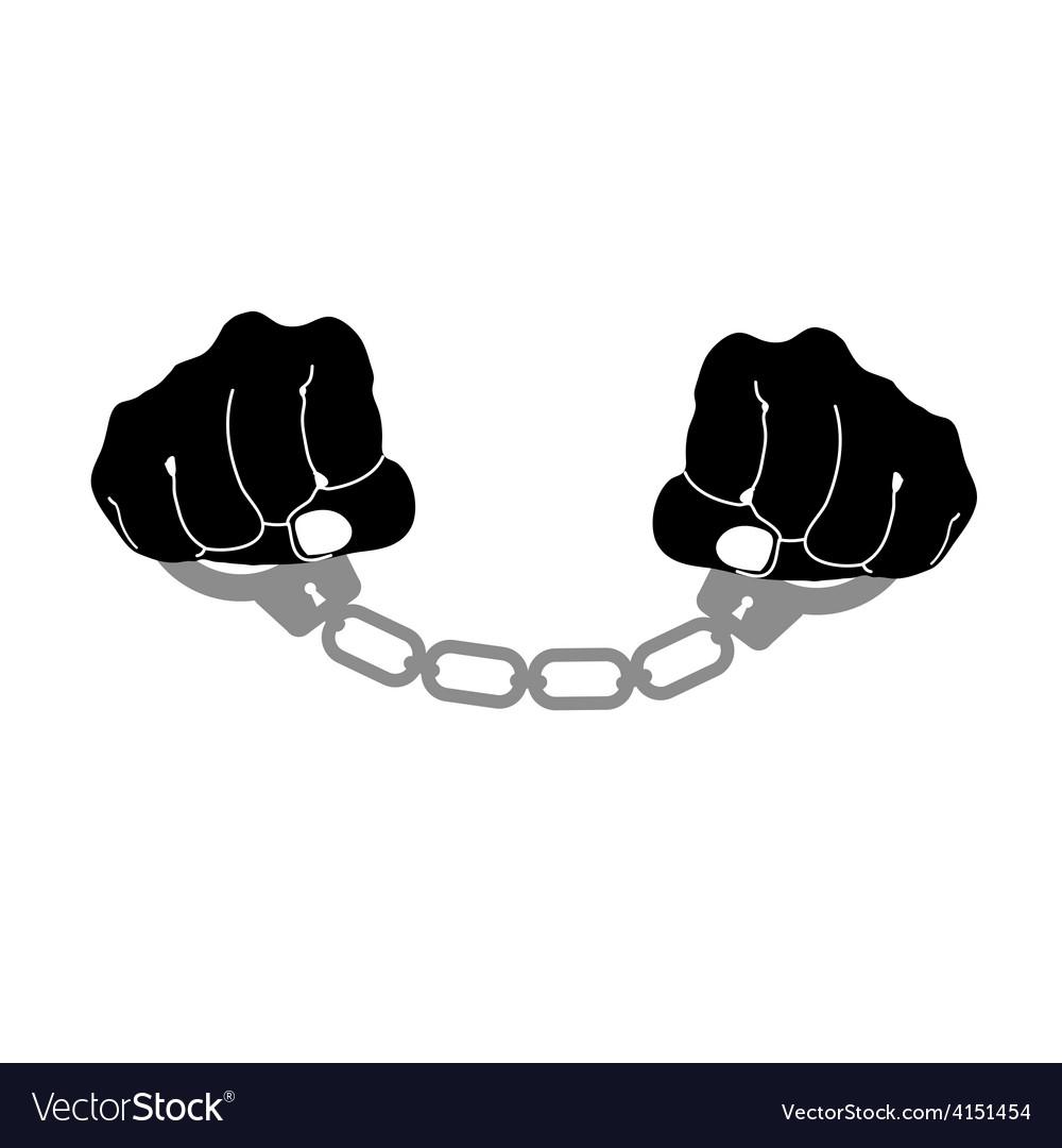 Handcuffs prison vector   Price: 1 Credit (USD $1)