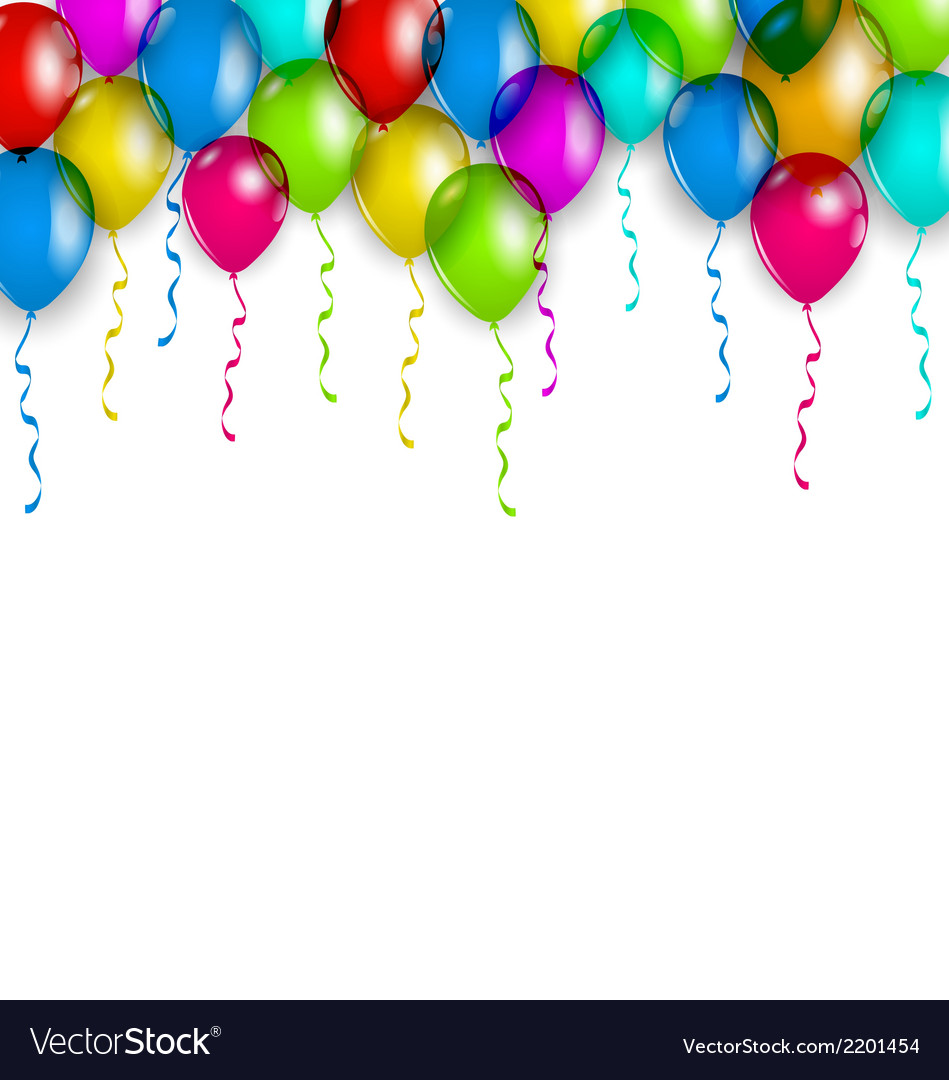 Party decoration with colorful balloons for your vector | Price: 1 Credit (USD $1)