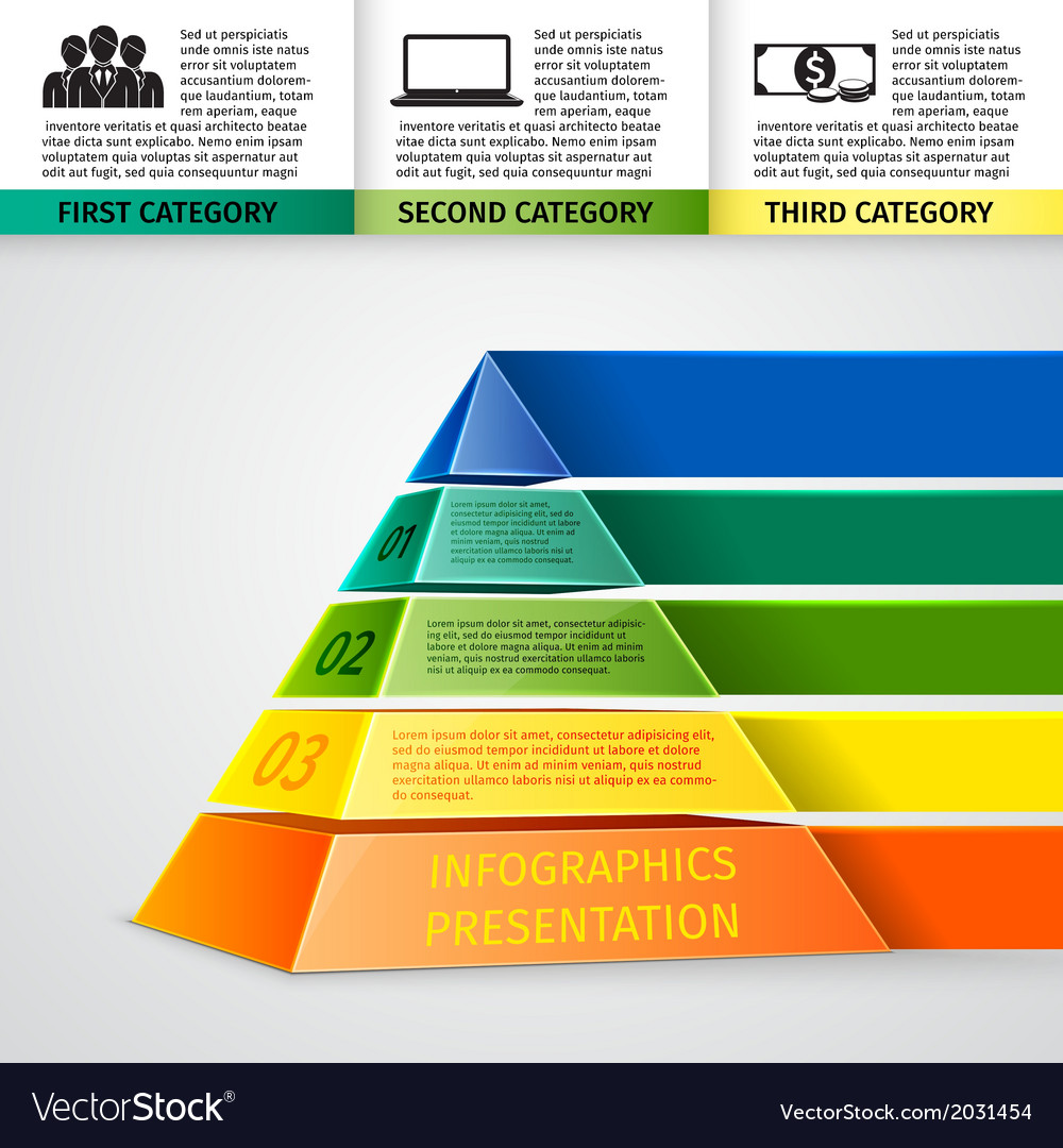 Pyramid 3d infographics vector | Price: 1 Credit (USD $1)