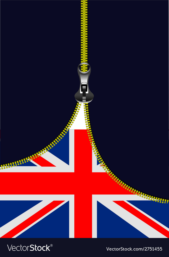 Al 0722 zipper gb flag vector | Price: 1 Credit (USD $1)