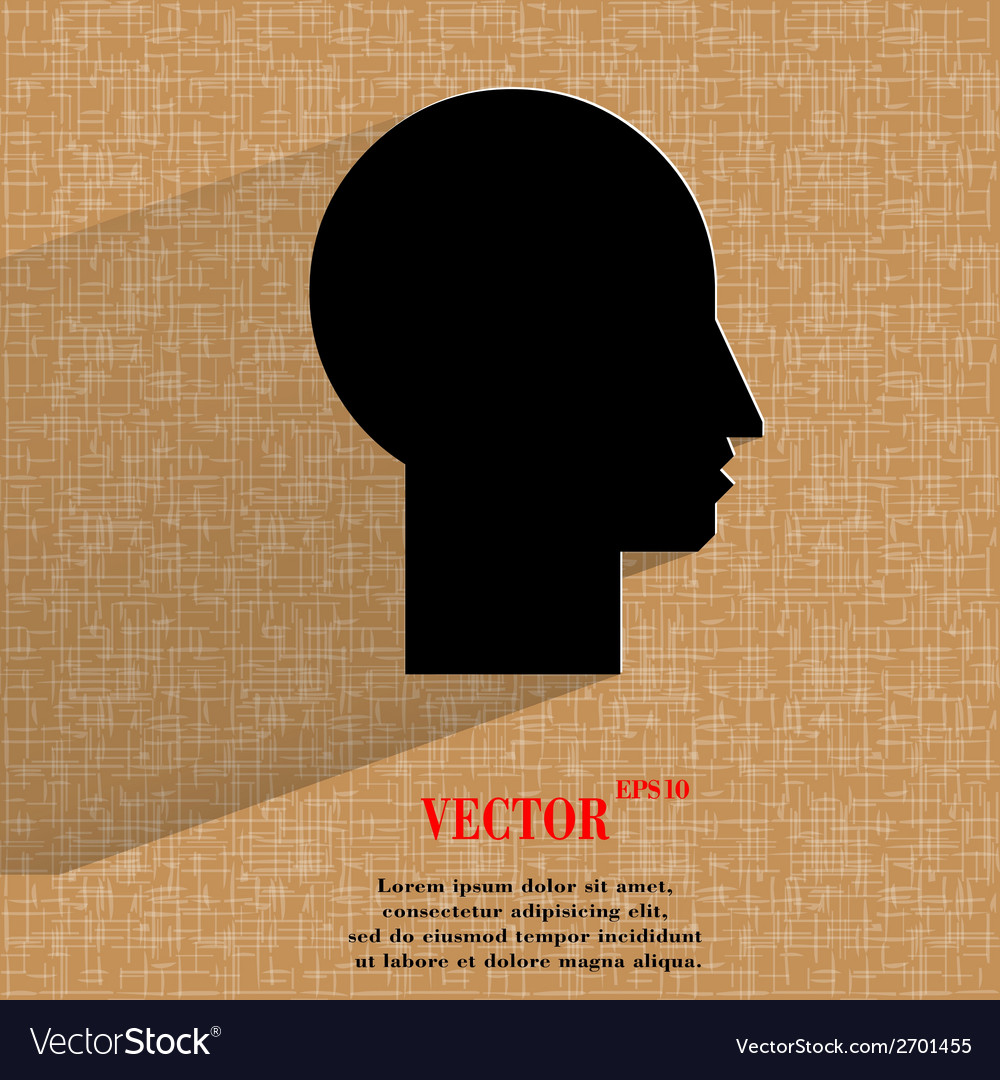 Man silhouette profile picture flat modern web vector | Price: 1 Credit (USD $1)