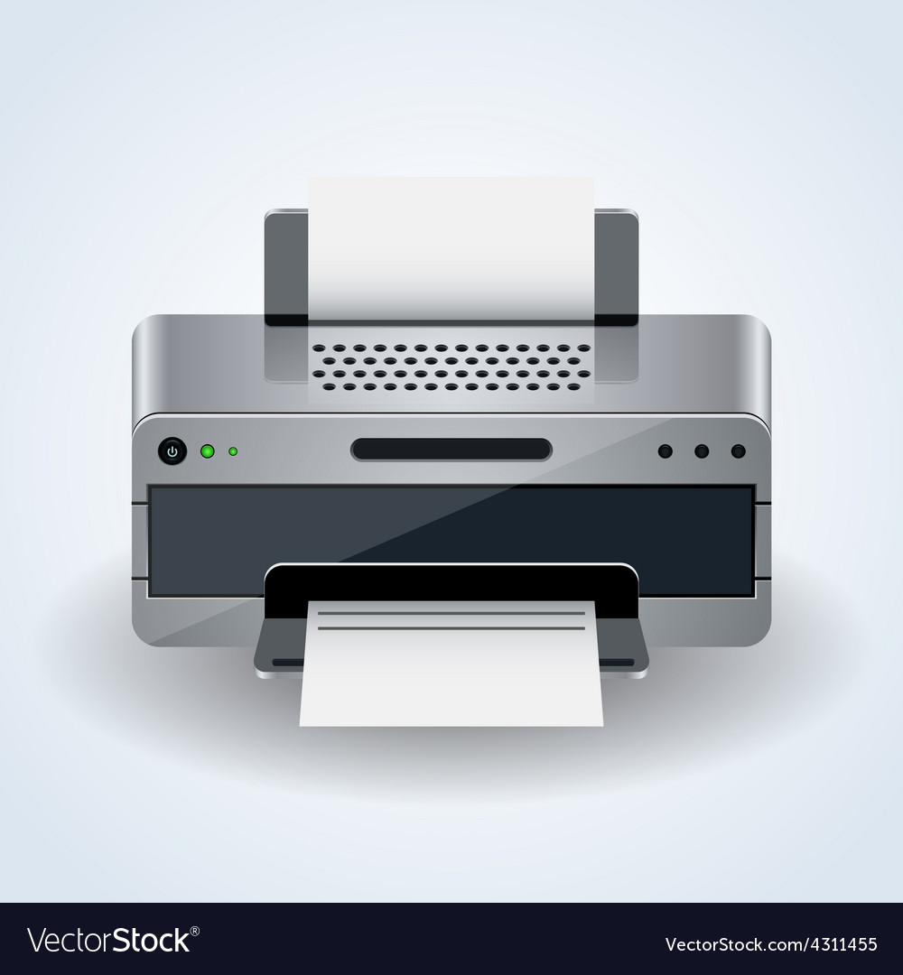 Modern desktop printer icon vector | Price: 1 Credit (USD $1)