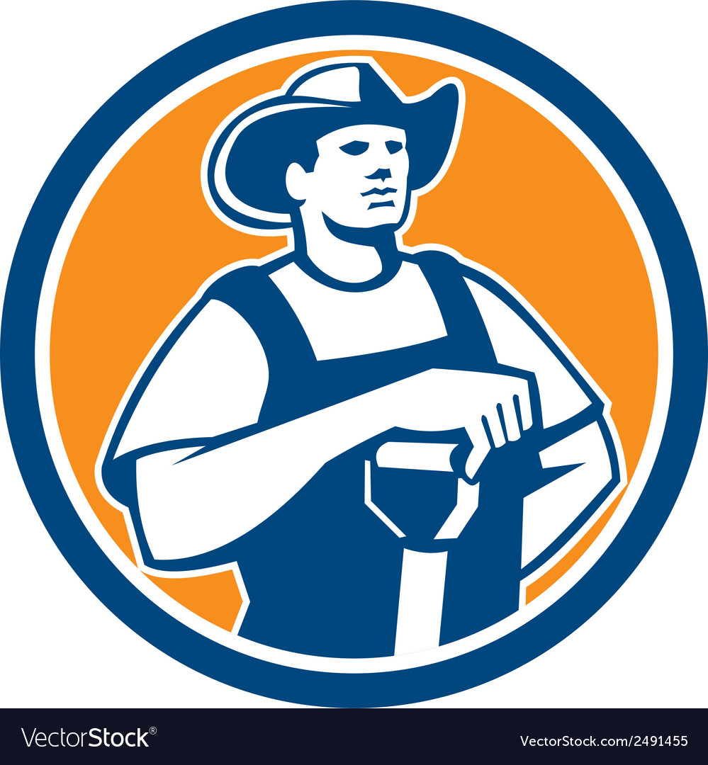 Organic farmer holding shovel front circle retro vector | Price: 1 Credit (USD $1)