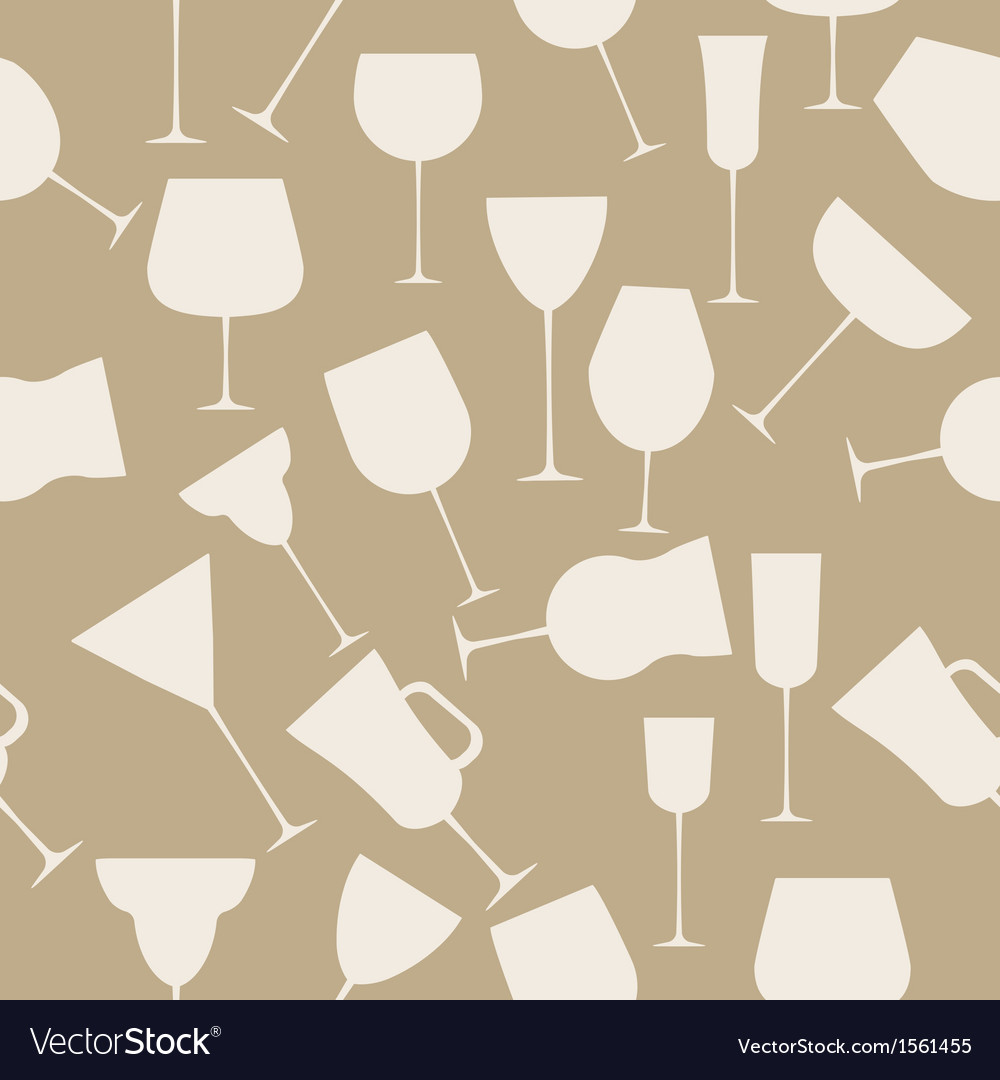 Seamless background pattern of alcoholic glass vector | Price: 1 Credit (USD $1)