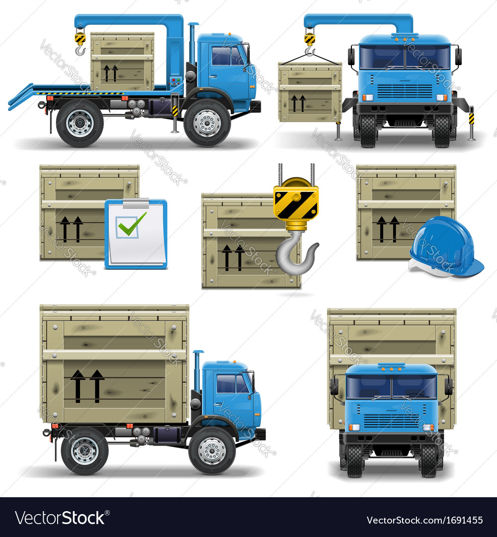 Shipment icons set 7 vector | Price: 3 Credit (USD $3)