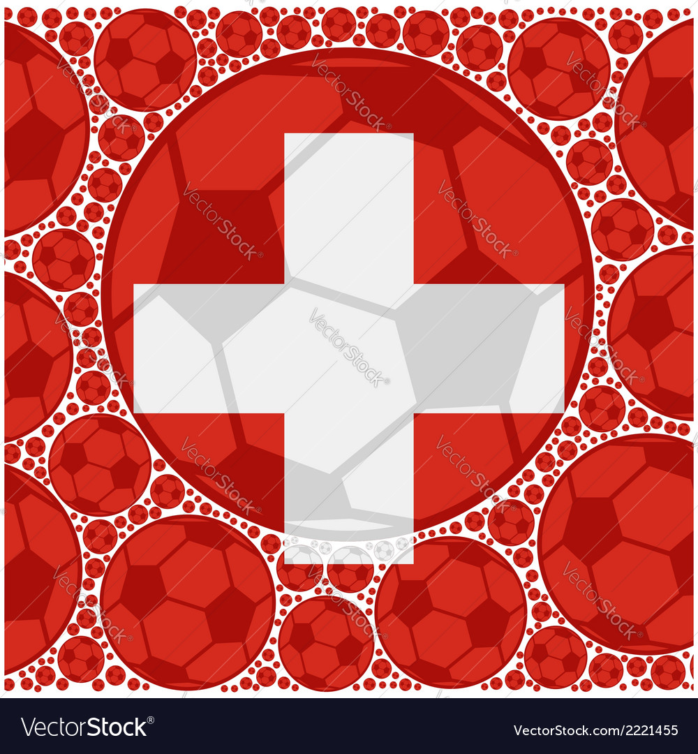 Switzerland soccer balls vector | Price: 1 Credit (USD $1)