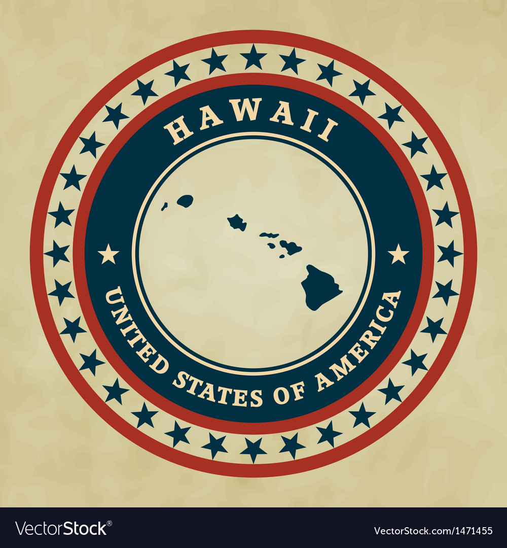 Vintage label hawaii vector | Price: 1 Credit (USD $1)