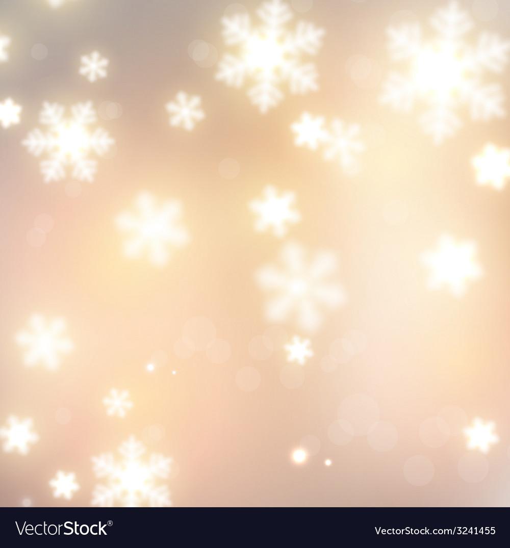 White defocused snowflakes on glow background vector | Price: 3 Credit (USD $3)