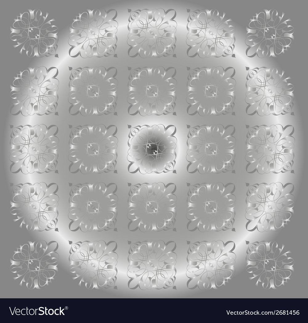 Beautiful circle gray light floral background vector | Price: 1 Credit (USD $1)