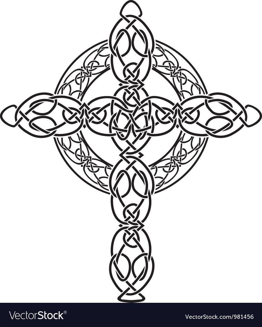Celtic cross2 vector | Price: 1 Credit (USD $1)