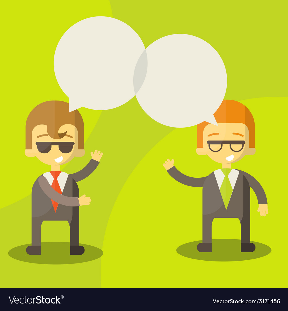 Dialogue businessmen vector | Price: 1 Credit (USD $1)