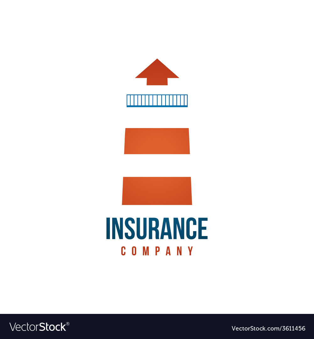 Insuramce company logo template with lighthouse vector | Price: 1 Credit (USD $1)