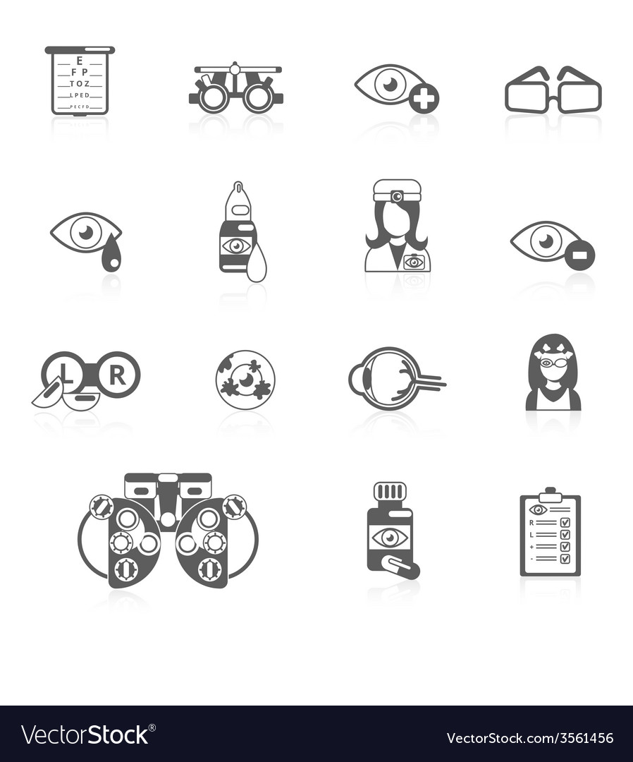 Oculist black icons vector | Price: 1 Credit (USD $1)