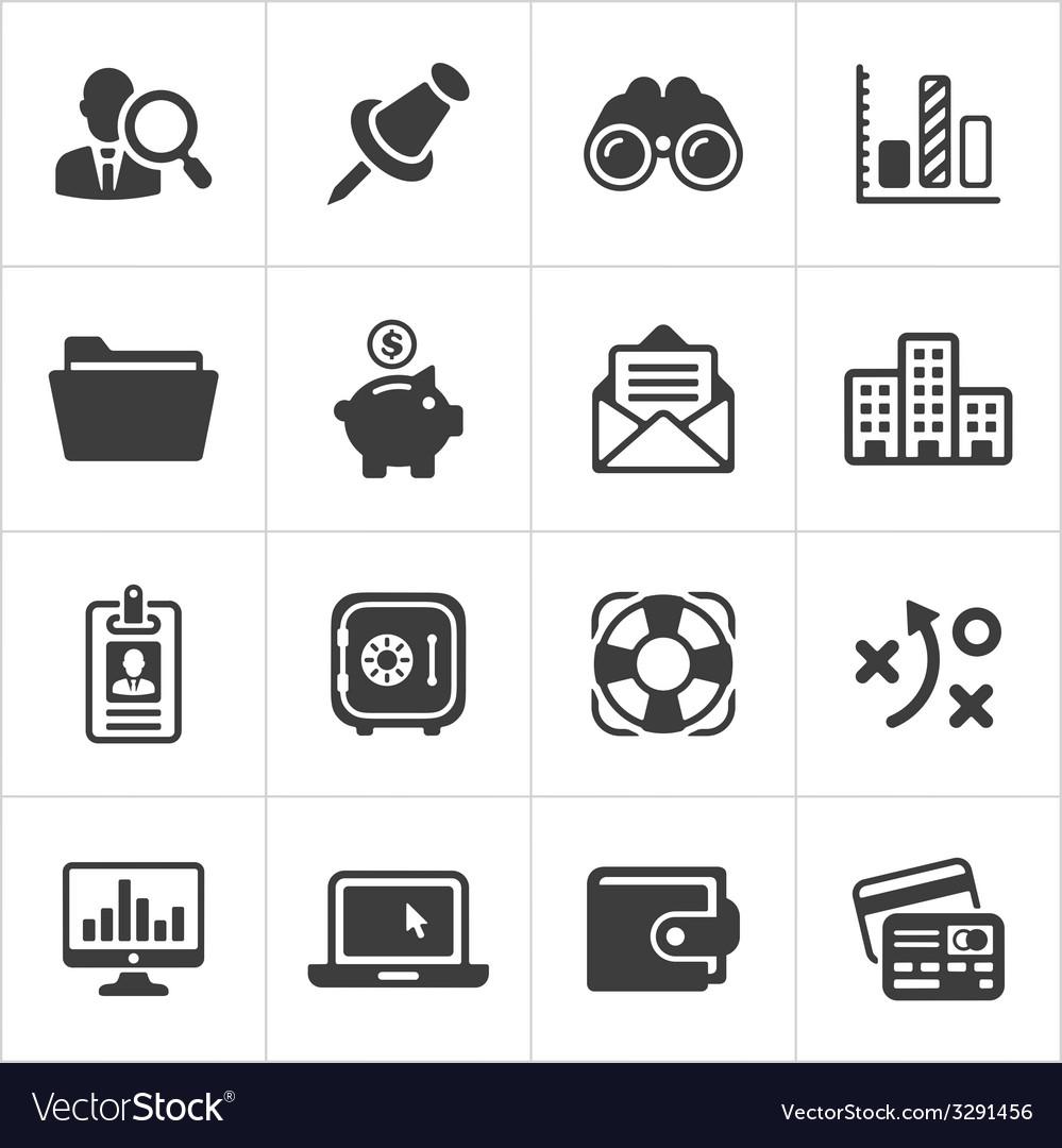 Trendy business and economics icons set 3 vector | Price: 1 Credit (USD $1)