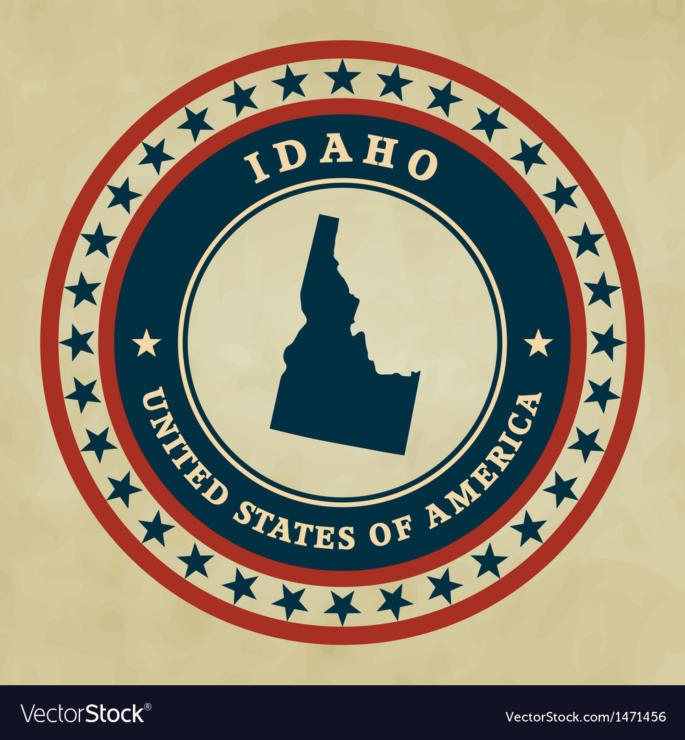 Vintage label idaho vector | Price: 1 Credit (USD $1)