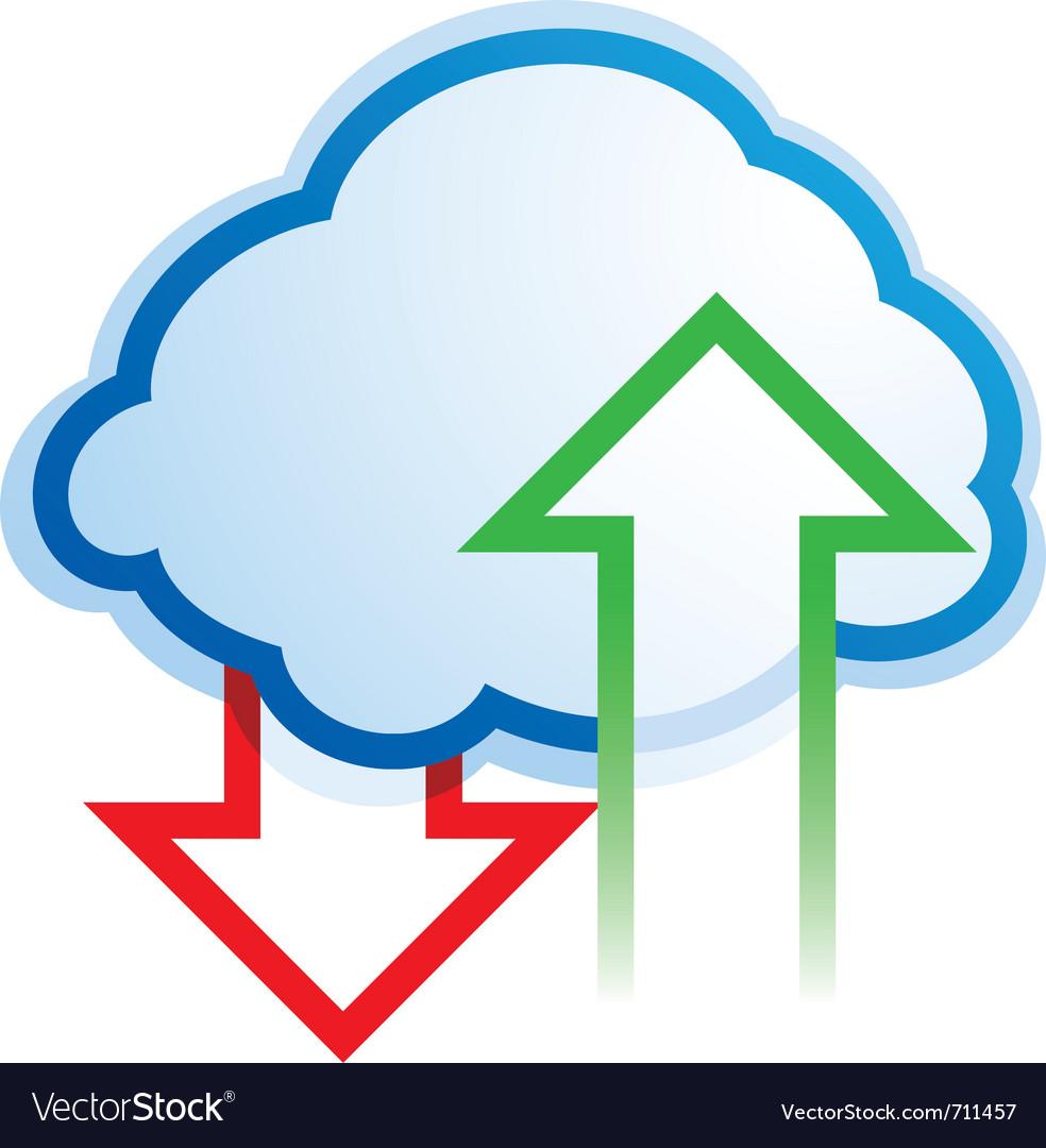 Abstract cloud computing symbol vector | Price: 1 Credit (USD $1)