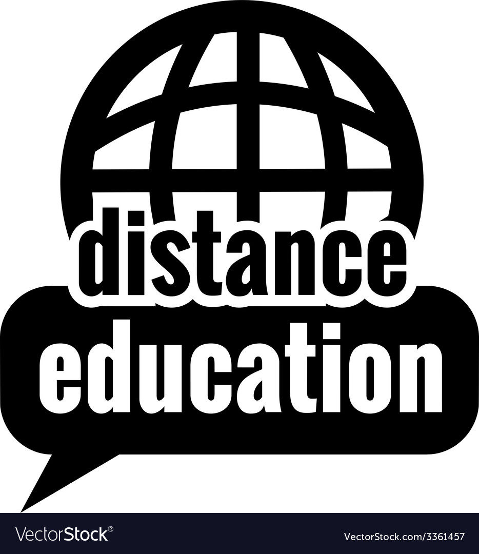 Black distance education vector | Price: 1 Credit (USD $1)