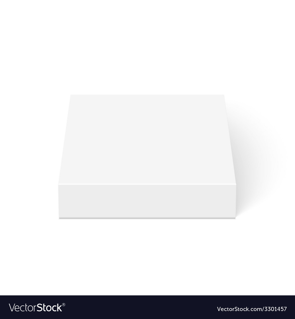 Blank box isolated on white background vector