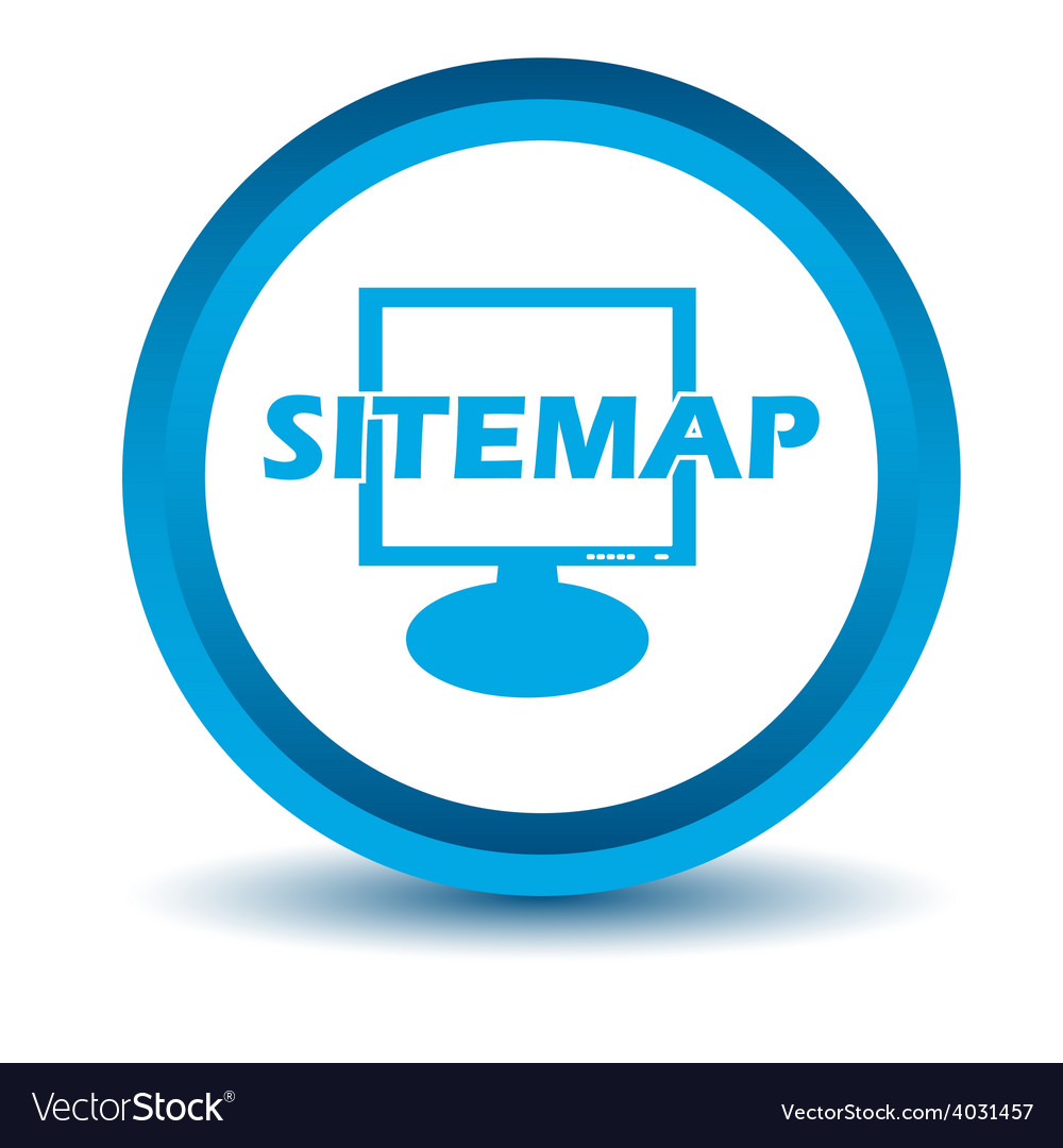 Blue sitemap icon vector | Price: 1 Credit (USD $1)