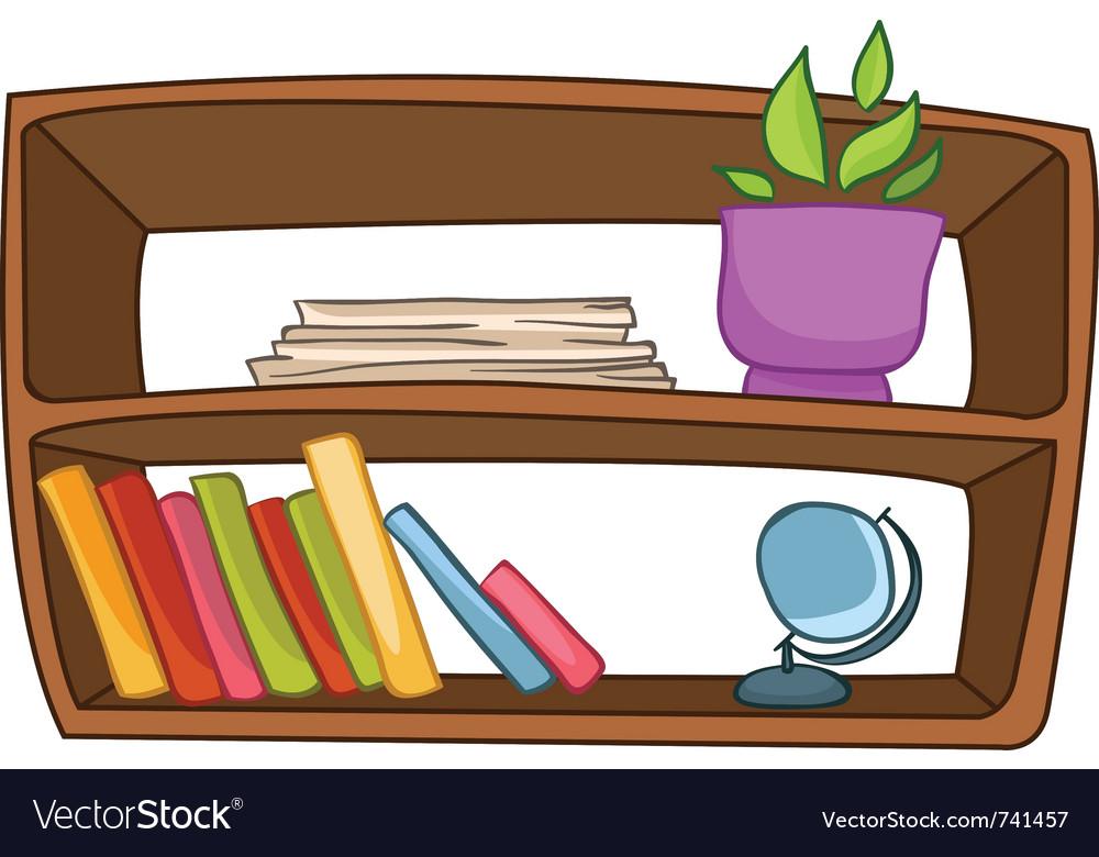 Cartoon home furniture book shelf vector | Price: 1 Credit (USD $1)