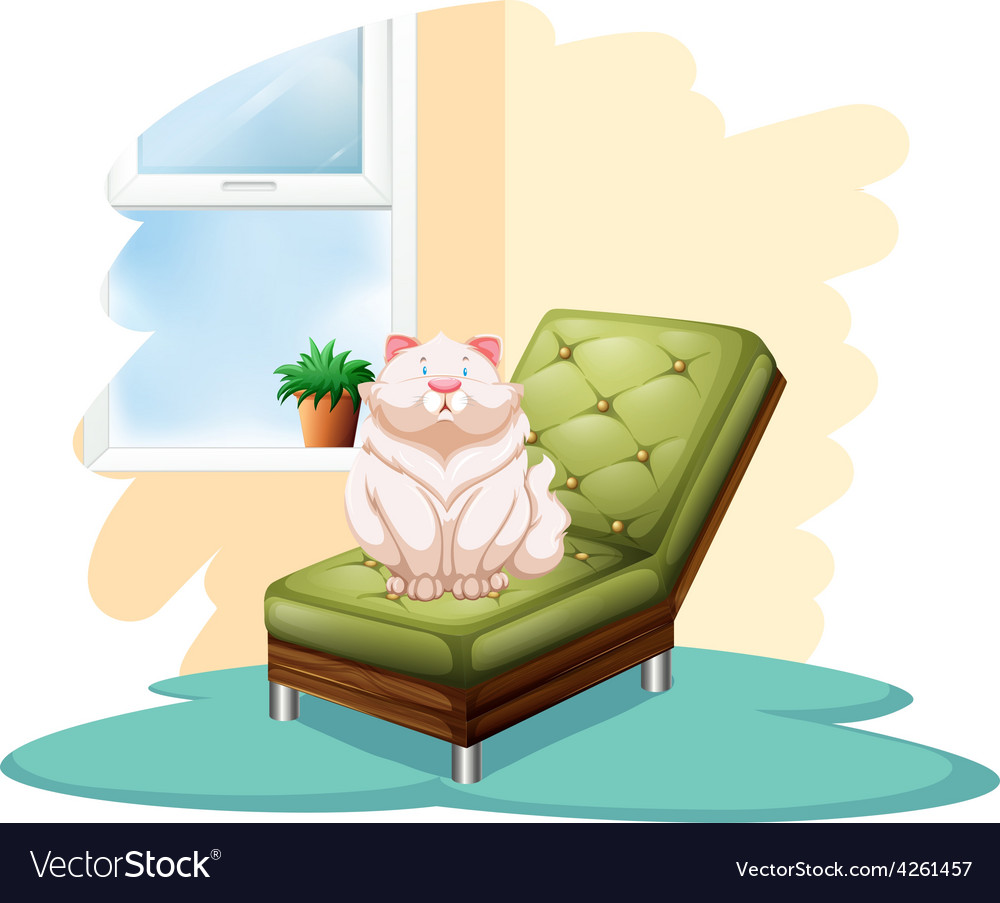 Cat above the chair vector | Price: 1 Credit (USD $1)