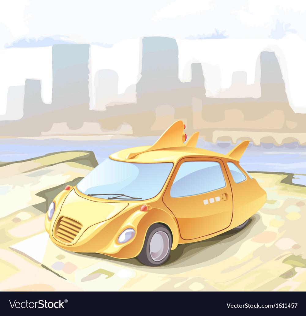 Futuristic cab vector | Price: 3 Credit (USD $3)