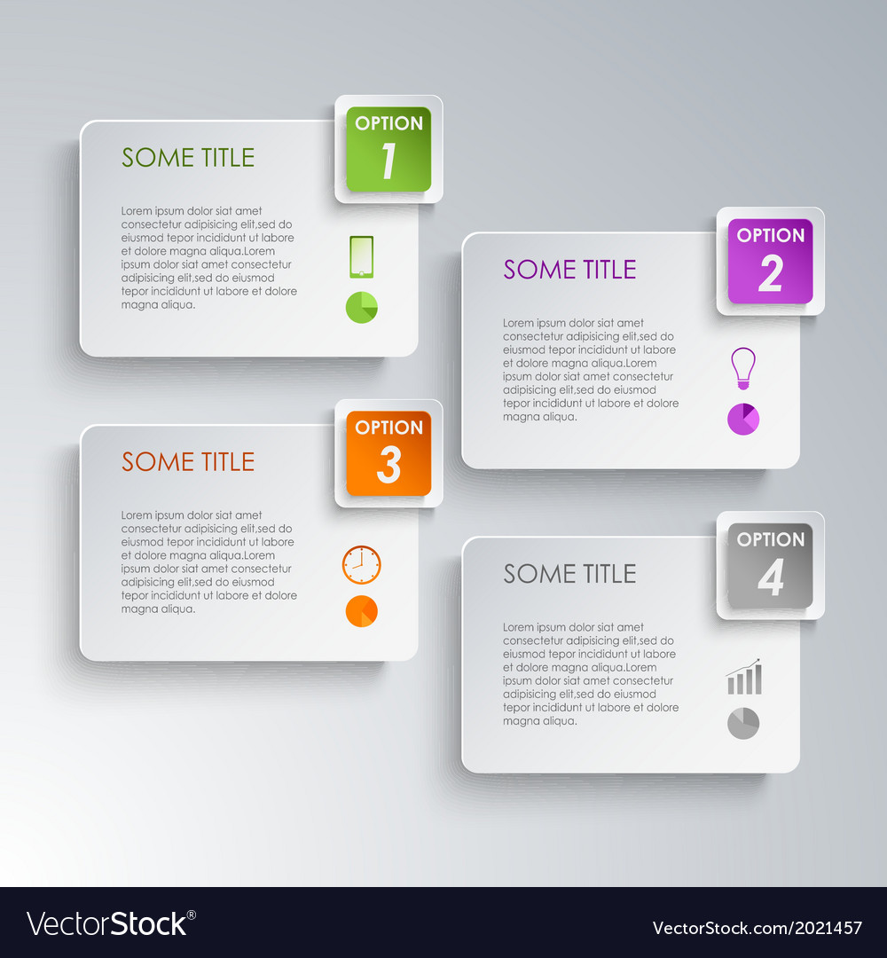 Info graphic options design template vector | Price: 1 Credit (USD $1)