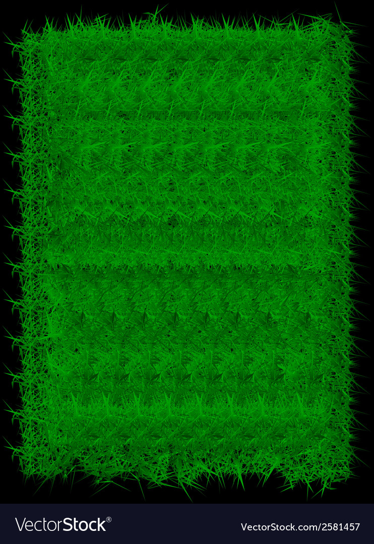 Rectangle green grass banner background vector | Price: 1 Credit (USD $1)