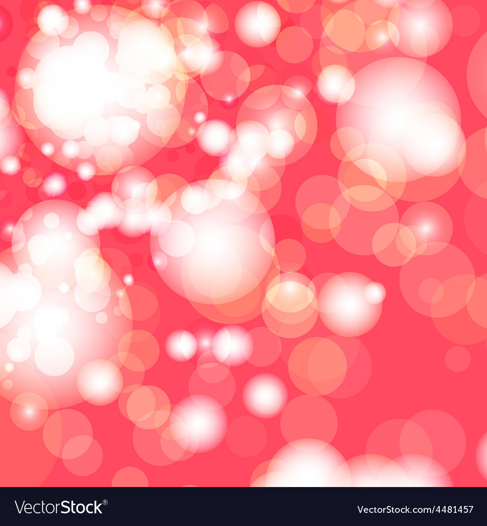 Red and white bokeh lights vector | Price: 1 Credit (USD $1)