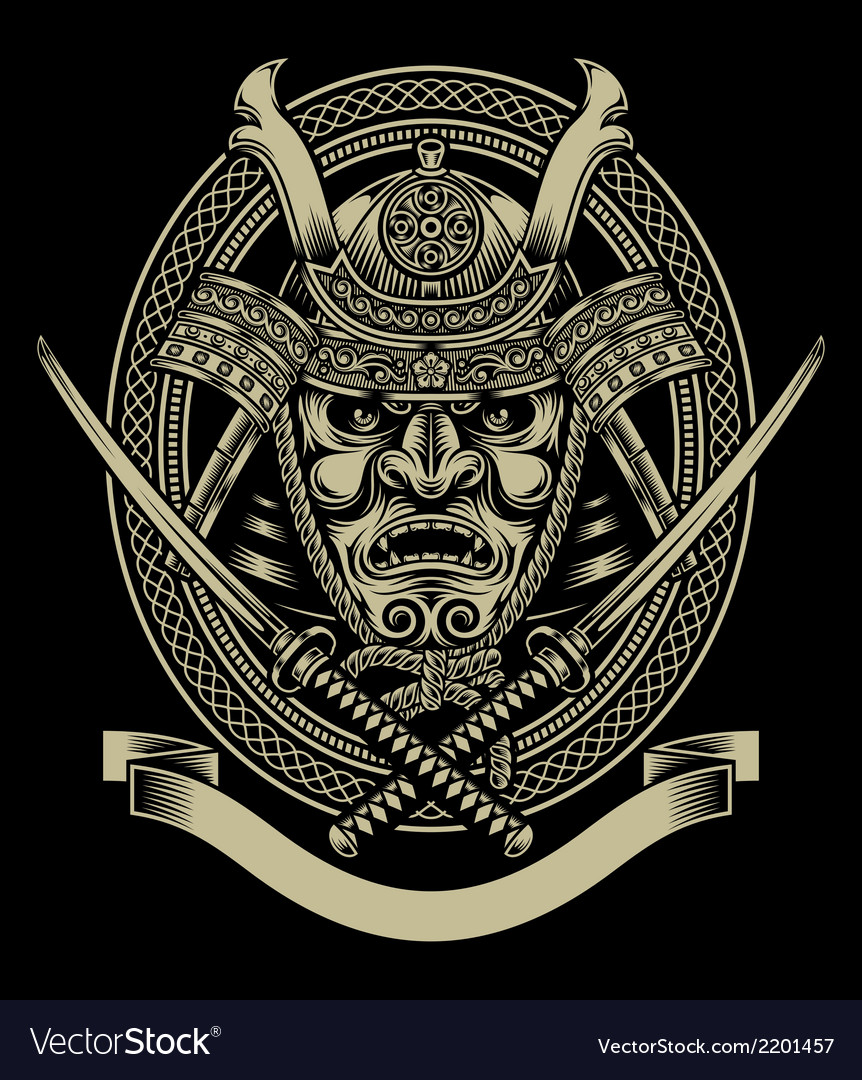 Samurai warrior with katana sword vector | Price: 3 Credit (USD $3)