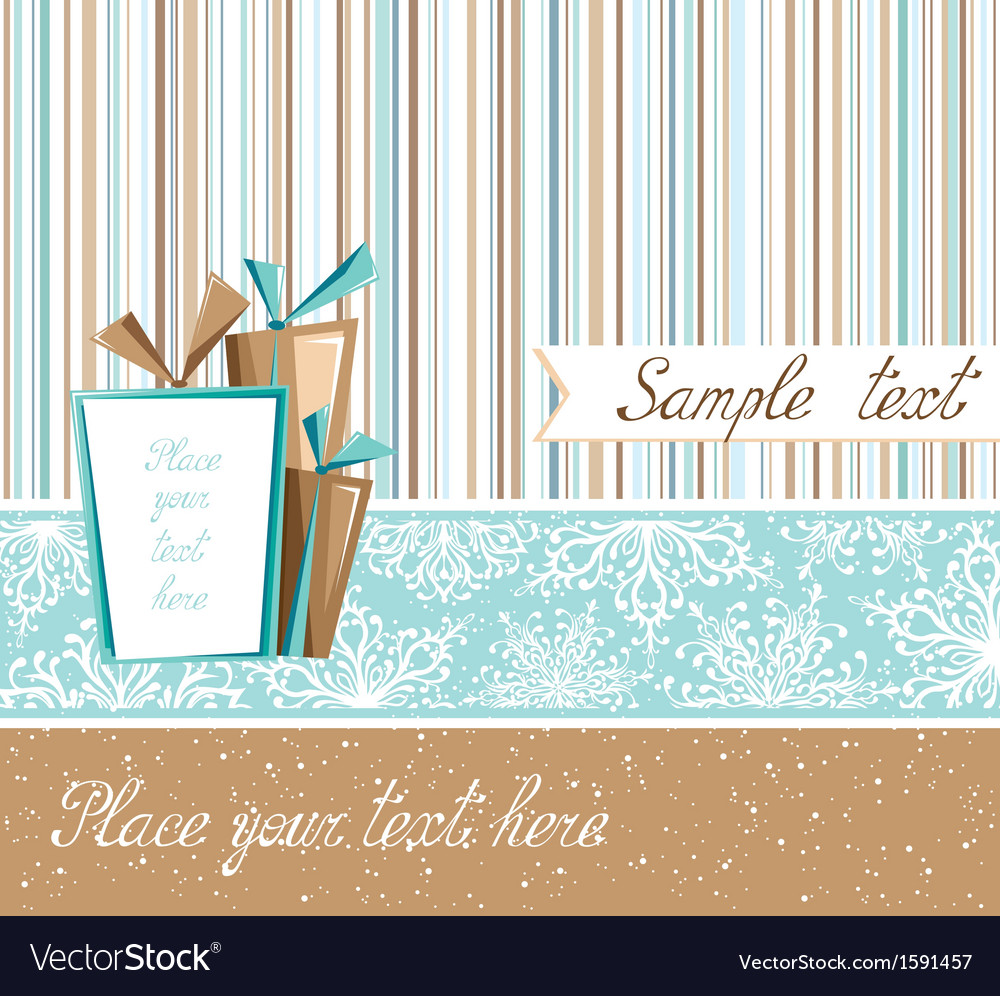 Season greeting card in retro style vector | Price: 1 Credit (USD $1)